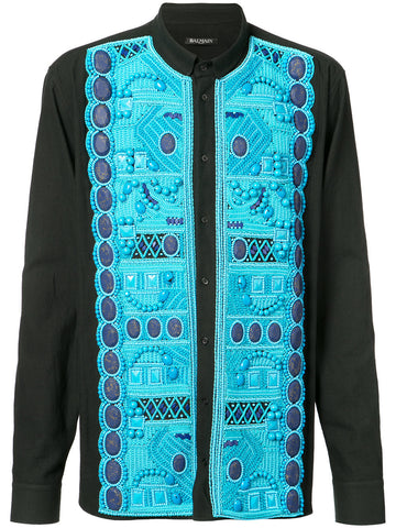 Turquoise Embellished Shirt | S7H1120S005