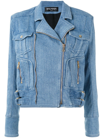 Denim Motorcycle Jacket | 7471 365N