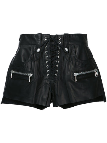 Laced Leather Shorts | UWCB004S17005014 LTHR LACE BF