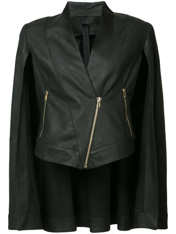 Caped Leather Jacket | PH17S8716/LN