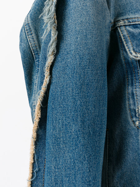 Distressed Denim Jacket | S52AM0065-S30589