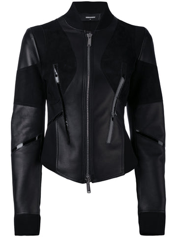 SLIM FIT LEATHER JACKET | S75AM0505 SX9477