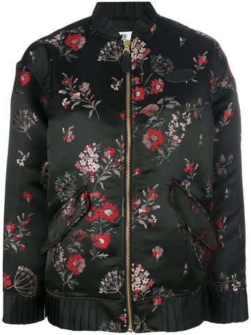 Floral Jacquard Bomber | S52AM0064-S47855