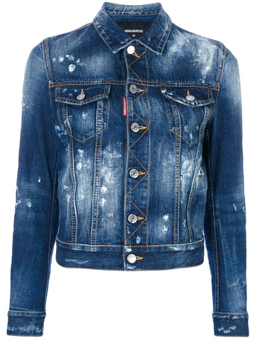 Distressed Denim Jacket | S75AM0503 S30309