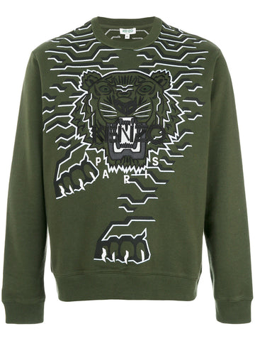 Embroidered Tiger Sweatshirt | F765SW0764XE GEO TIGER