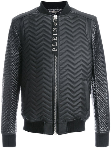 Embossed Zipped Jacket | F17C_MLB_0146 PLE002N NOBUFUSA