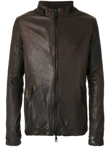 Zipped Leather Jacket | GUI8F 8488V JCKT