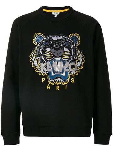 Embroidered Tiger Icon Crew | F765SW1144XC TIGER RELAXED