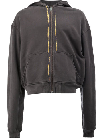 Embroidered Zip-Up Hoodie | 174-3810-222-097