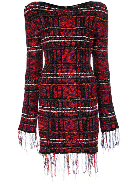 Distressed Tartan Dress | 103796 831M