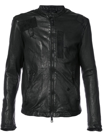 Leather Patchwork Jacket | GUI8F 8492V SEAM