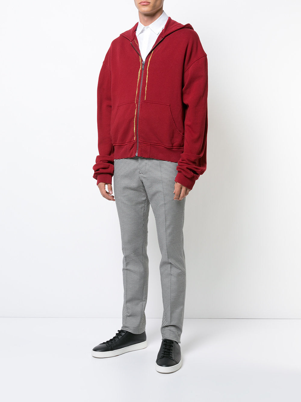 Embroidered Zip-Up Hoodie | 174-3810-222-042