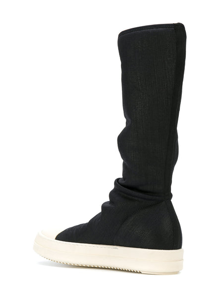 Leather Sock High Top Trainer | DS17F2808 SBWP