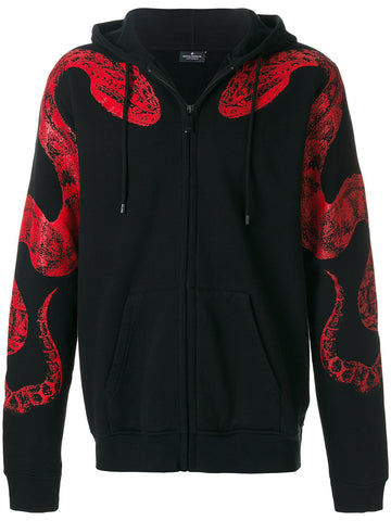 Snake Zippered Hoodie | CMBB027F175060751020
