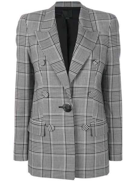 Checkered Silver Button Blazer | 1W372012P8