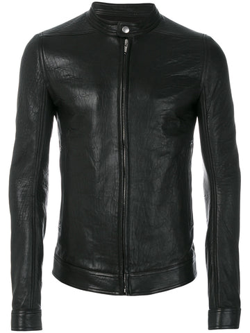 Slim Fit Leather Jacket | RU17F8769 LSK 09