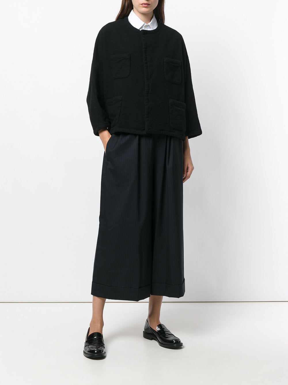 Cropped Wide Leg Trousers | RT-P010-051