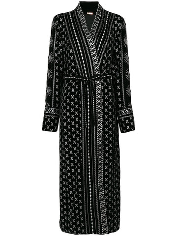 Embroidered Robe Dress | DBO325