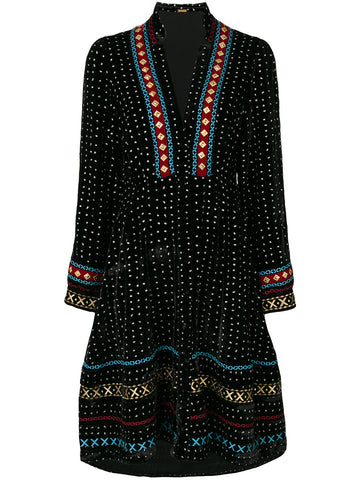 Embroidered Multicolor Dress | DBO327