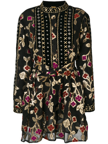 Short Embroidered Floral Dress | DBO333