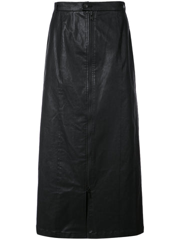 Waxed Cotton Skirt | 17CD1BMTR-04