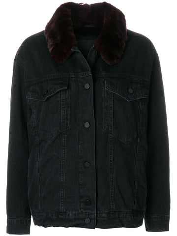 Fur Trim Denim Jacket |  1W373030W1