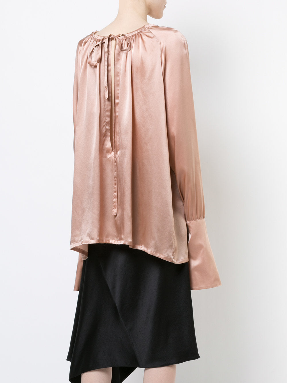 Silk Bell Sleeve Top | 1702-1824-110-035