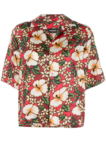 HAWAIIAN PRINT BUTTON UP | S72DL0548 S48776