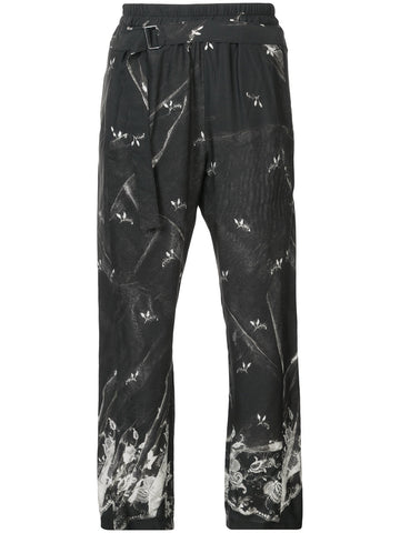 FLORAL PRINT CROPPED TROUSER | 1702-1408-129-099