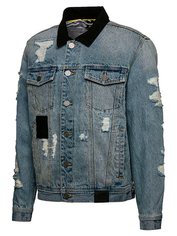 Distressed Denim Jacket | 57558877 DENIM JCKT