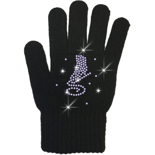 ChloeNoel Ice Skating Gloves - GV22-BB/Skate Crystals - The Sharper Edge Skates