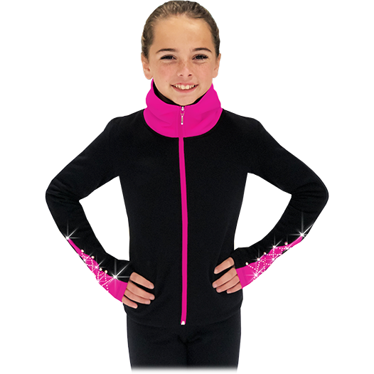 ChloeNoel JS883P (Elite Polartec Fleece Contrast Jackets ) - The Sharper Edge Skates