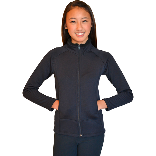 ChloeNoel JT22U Black - Unisex Polar Fleece Jacket with Pockets - The Sharper Edge Skates