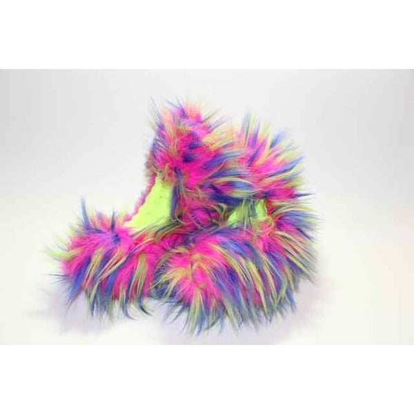 Fuzzy Soakers - CF01 - Hot Pink, Blue & Yellow Crazy Fur - The Sharper Edge Skates
