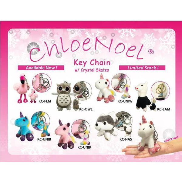 ChloeNoel Animal Key Chain Wallets with Crystal Skates - The Sharper Edge Skates
