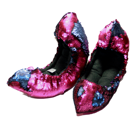 Mermaid Flip Sequin Soakers - FLIPZ™02- Hot Pink and Blue - The Sharper Edge Skates