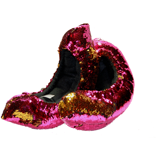 Mermaid Flip Sequin Soakers - FLIPZ™05- Hot Pink and Gold - The Sharper Edge Skates
