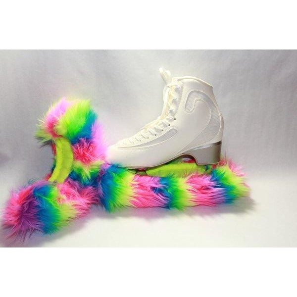 Fuzzy Soakers - CF15 - Rainbow Crazy Fur - The Sharper Edge Skates