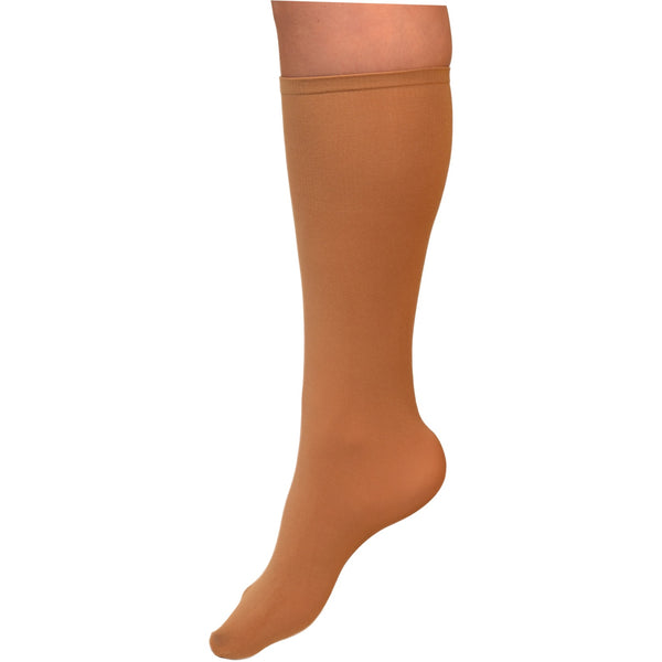 ChloeNoel Boot Height Socks - Tan - The Sharper Edge Skates