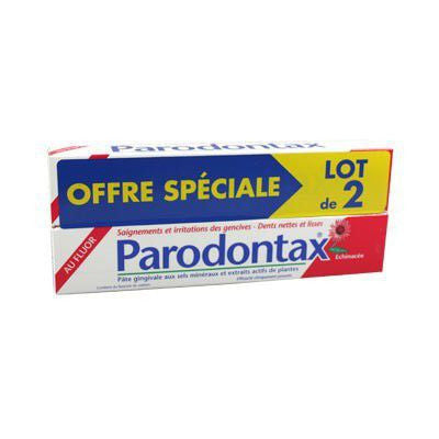 Parodontax Dentifrice Echinacée Fluor 75ml lot de 2 - GSK - PharmacieRepublique