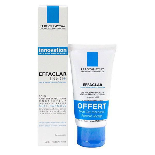Effaclar Duo+ 40ml plus Gel Moussant Offert 50ml - La Roche-Posay - PharmacieRepublique