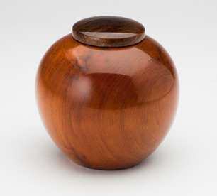 Handmade Pet Cremation Urn in Cherry Wood