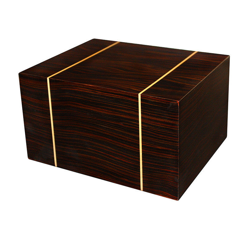 Rustic Wood Cremation urn with Gold Lining - Extra Large