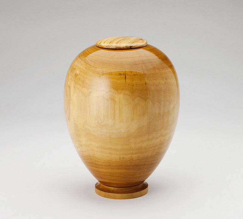 Handmade Wood Cremation Urn in Poplar