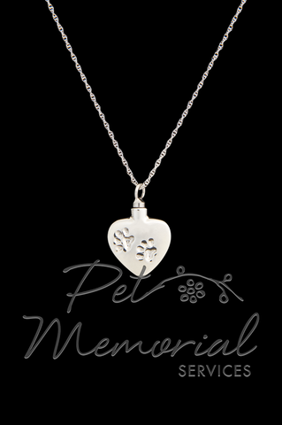 Keepsake Jewelry - Heart w/ Paws