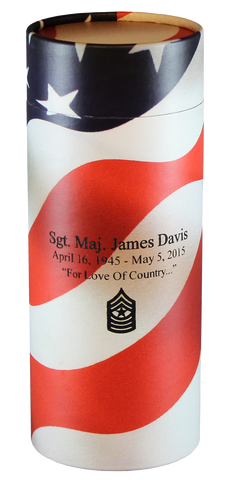 Eco-Friendly Collection: Cremation Urn Scattering Tube in American Flag