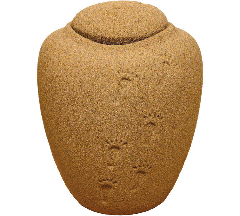 Footsteps in the Sand Biodegradable Cremation Urn