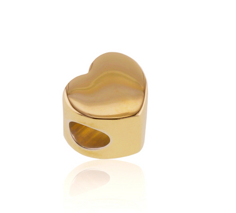9-Carat Gold Heart Bead Jewelry Cremation Urn