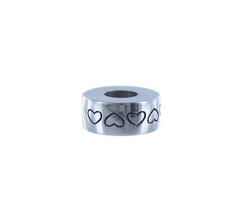 Sterling Silver Heart Engraved Charm Jewelry Cremation Urn