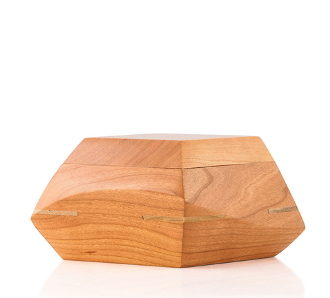 Cherry Wood Sculpted Keepsake Cremation Urn